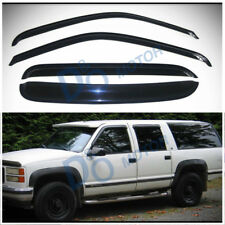 4pcs Sun/Rain Guard Vent Shade Window Visors Fit C10 C/K Crew Cab Full Size SUV