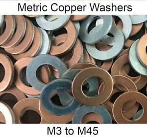 Copper Metric Sealing Crush Washers - M3 to M45 - Industrial, Home & DIY Use