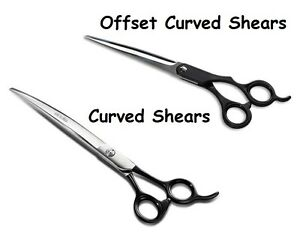 Professional Grade Offset & Curved Dog Cat Pet Grooming Shears Sets Available