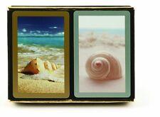 2 Deck Set Congress Seashell Jumbo Large Index Playing Cards Bridge New ocean