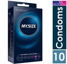 1 X My Size Condoms 64 MM Végétalien Grande Taille Lubrifiés Latex Paquet 10