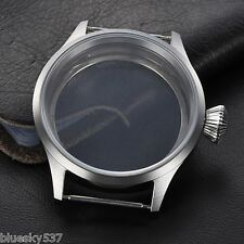 43mm Parnis Sapphire Glass Pilot Case Fit 6497/6498,Fit Two Size Tihckness Dial