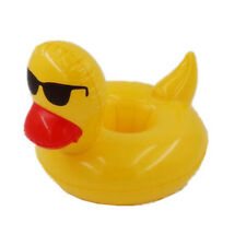 Inflatable Duck Floating Swimming Pool Beach Drink Can Cup Beer Holder Boat Toy
