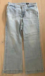 Adriano goldschmied AG Womens Jeans The Layla Trousser Flare Crop Size 27