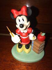 Disney Minnie Mouse TRACHER Figurine Vintage Ceramic Bisque Retired