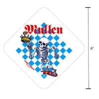 "Powell Peralta Rodney Mullen Skeleton Chess Skateboard Sticker 6"" Bones Brigade"