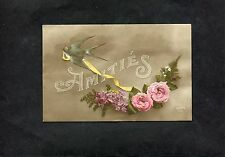 Postcard - Dated 1916 A Greeting Card Sent From France