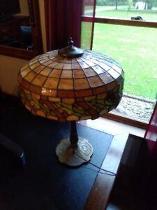 Wonderful All Original Handel Slag Glass Lamp Art Nouveau