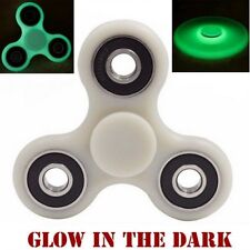 Night Glowing Dark Glow Hand Spinner Gyro Tri Fidget Toy For Kids/Adults - White