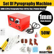 50W Wood Burning Pen Tool Multifunction Craft Pyrography Machine Set Kit Burner