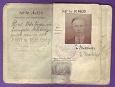 Vintage Republic of Latvia Personalized PASSPORT BOOK WITH PHOTO 1463