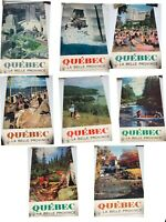 """Quebec La Belle Province Canada Travel Posters 16"""" x 26"""" Vintage Posers Lot of 8"""
