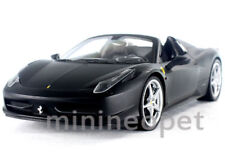 HOT WHEELS X5528 FERRARI 458 ITALIA SPIDER 1/18 DIECAST FLAT BLACK