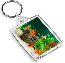 Pretty Goldfish Keyring Fish Aquarium Pet Kids Funny Cool Keyring Gift #8427