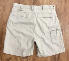 Mens Weekender Cargo Shorts With Hidden Inside Zipper Pocket Cotton Canvas Sz 34