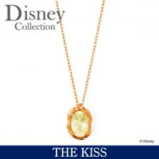 NEW THE KISS × Disney Princess Bell Quartz K10 Pink Gold Necklace from JAPAN F/S