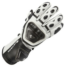 SPADA CURVE RACE SPORTS MOTORCYCLE MOTORBIKE LEATHER GLOVES WHITE - SALE