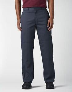 dickies men's loose fit double knee work pants Dark Navy 56x30