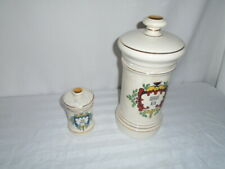 Vintage Two  Porcelain Apothecary Jars  Quercus Alba /.Folhe Digitalis