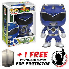 FUNKO POP POWER RANGERS BLUE RANGER VINYL FIGURE + FREE POP PROTECTOR