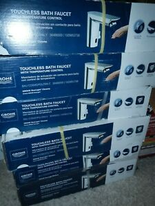 GROHE Bau Cosmopolitan Touchless Bathroom Faucet in Starlight Chrome SameDayShip