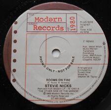 STEVIE NICKS (FLEETWOOD MAC) Rooms on fire /Alice NM- CANADA 1989 PROMO 45 Vinyl