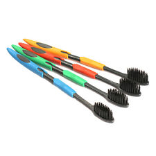 4x Bamboo Charcoal Double Ultra Soft Toothbrush Nano Brush Oral Dental Care Set