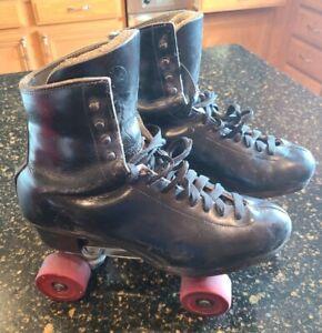 Snyder Roller  Skates Red Wheels  Snyder   Plates Men's Size 9.5 9 1/2 to 11