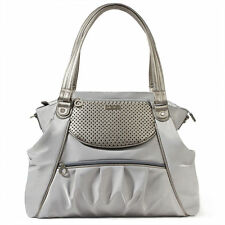 Skip Hop Studio Select Day-To-Night Diaper Satchel Baby Tote Diaper Bag - Pewter