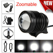 Zoomable XM-L T6 LED 5000 Lm Bicycle bike Head Light Headlamp Rechargeable Head