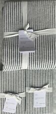 Pottery Barn Wheaton Striped King Duvet & 2 King Shams In Navy