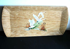 4 Flying Geese Coronet Mid Century serving trays waterfowl wildlife 16.5 Free Sh