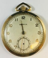 14 kt Gold filled Benrus 17 Jewel  Pocket Watch