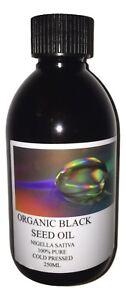 BLACK SEED OIL 250ML. EXTRA VIRGIN, ORGANIC & COLD PRESSED
