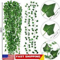 6x Artificial Ivy Leaf Plant Fake Hanging Garland Vine Foliage Home Garden Decor