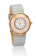 Watch Taupe Rose Gold Coloured Diamante Elegant Wrist Ladies Glamorous time