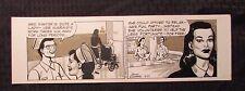 12-27-89 BUZ SAWYER Daily Newspaper Strip Original Art by John Celardo 15x4.5  Comic Art