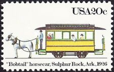 Us - 1983 - 20 Cents Bobtail Horsecar Early American Streetcar #2061 Nh F - Vf+