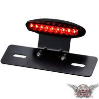 Led Motorrad Mini Rücklicht Kennzeichenbeleuchtung mit Träger Schwarz Rot Xeno