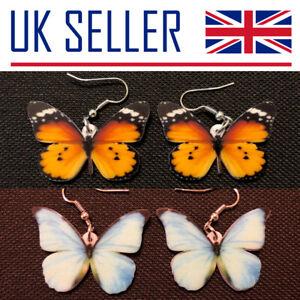 Butterfly Earrings - Gifts, Pierced, Insect, Wings, Change, Metamorphosis, UK