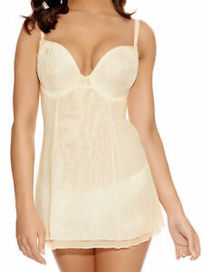 Freya Chemise Babydoll Deco Darling Size 28FF Ivory Padded Bra Nightie 1772 New