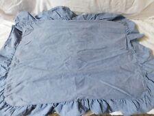 Vintage RALPH LAUREN Blue CHAMBRAY STANDARD Ruffle SHAM Denim