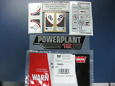 WARN 75523 Winch Replacement Decal Label Kit Set Sticker Powerplant HD 12