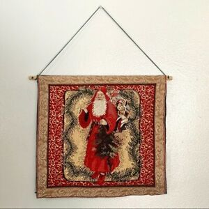 Christmas Santa Claus Tapestry Hanging Wall Decor
