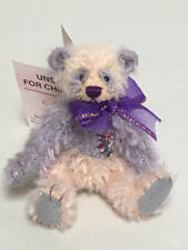"DEB CANHAM HAVE A HEART COLLECTION MINIATURE TEDDY BEAR ""BLUSH"" 317/2000"