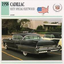 1958 CADILLAC SIXTY SPECIAL FLEETWOOD Classic Car Photograph / Info Maxi Card