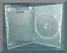 14mm AMARAY CLEAR DVD Case [Holds 1 Disc - UPGRADEABLE TO 2 OR 3 DISC CASE] NEW