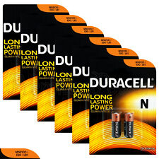 12 x Duracell Alkaline N batteries LR1 1.5V MN9100 E90 AM5