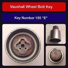 Genuine Vauxhall locking wheel nut bolt/key code 185 letter E