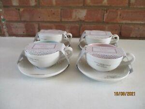 Portmeirion Sophie Conran Colour Pop Tea Cup and Saucers Set of 4  - Brand New